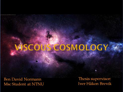 Illustration photo, viscous cosmology
